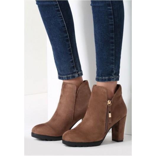 Hnedé dámske topánky so zipsom