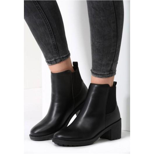 Čierne dámske zimné topánky