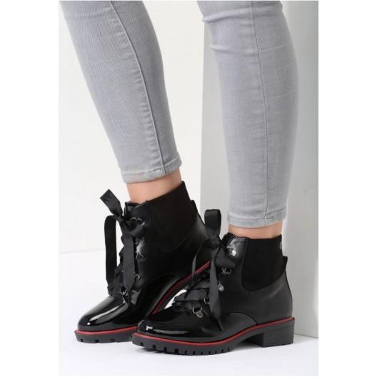 Dámska členková obuv čierna