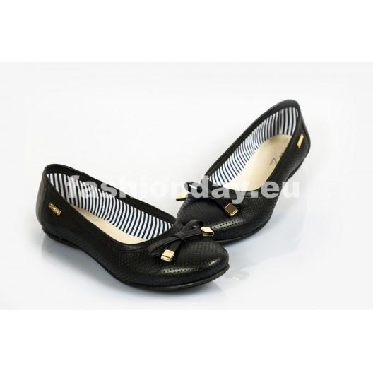 Dámske balerínky Pravá koža Farba čierna DT229