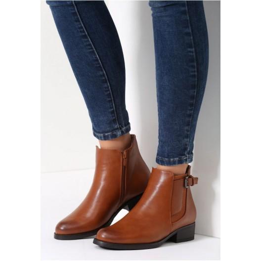Hnedé dámske topánky na zimu