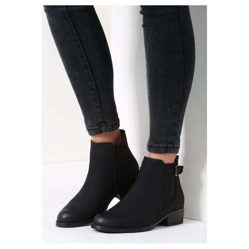 193da2c6ce29 Predchádzajúci. Čierne dámske topánky na nízkom podpätku ...