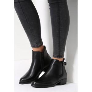 Dámske topánky na zimu čiernej farby