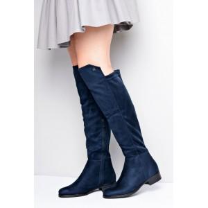 ff46093e8523 Tmavo modre dámske topánky na podpätku - fashionday.eu
