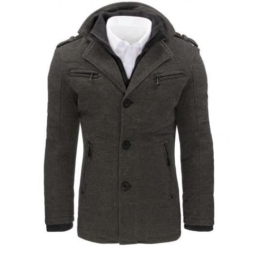 Sivé pánske kábáty na jeseň