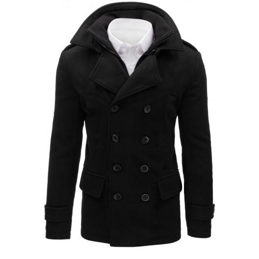 Zimný pánsky kabát čiernej farby