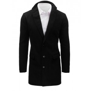 Moderné pánske kabáty čiernej farby