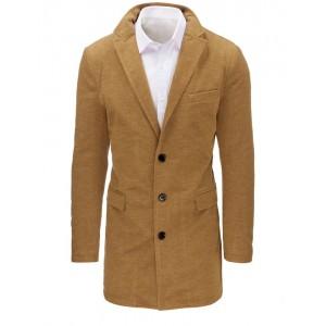 Štýlové pánske kabáty v béžovej farbe