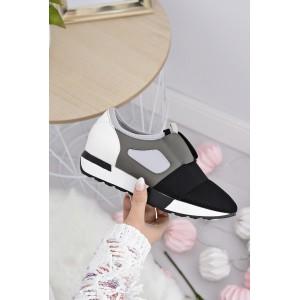 Moderná dámska obuv v sivej farbe