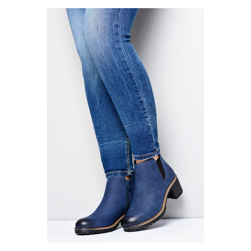 f1da0ab905935 Tmavo modré dámske topánky na zips - fashionday.eu