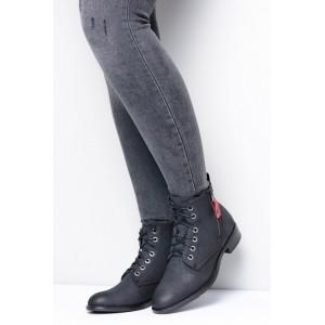 Čierne dámske topánky na zimu