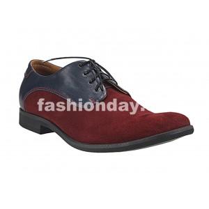 Pánske kožené topánky bordové