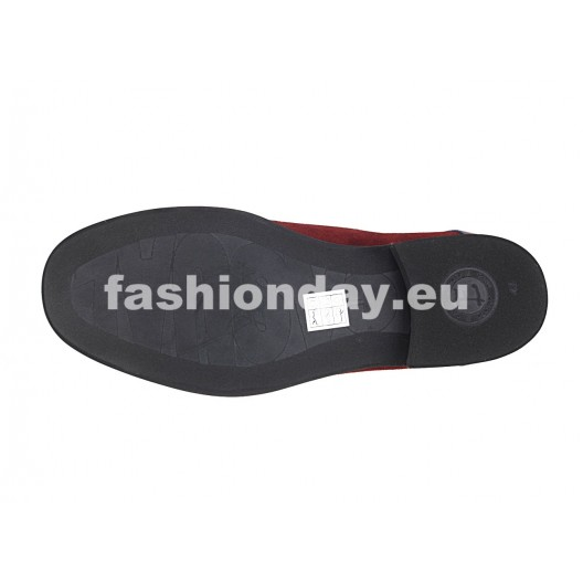 Pánske kožené topánky bordové PT114