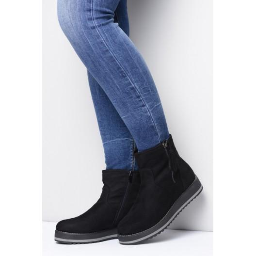 Dámska zimná obuv čiernej farby