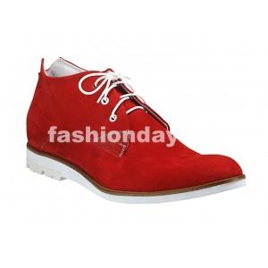 Pánske kožené topánky červené