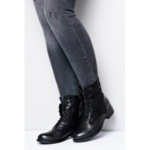 Čierne dámske členkové topánky na zimu