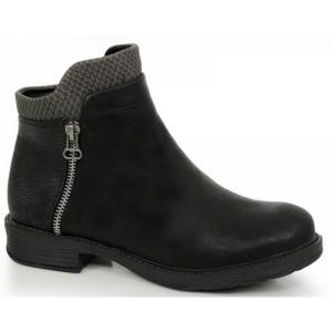 Kotníkové čižmy na zimu v čiernej farbe