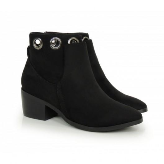 Elegantná dámská zimná obuv čiernej farby