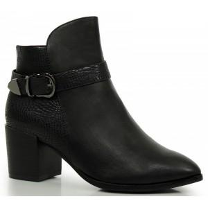 Čierne dámske čižmy na zimu s prackou