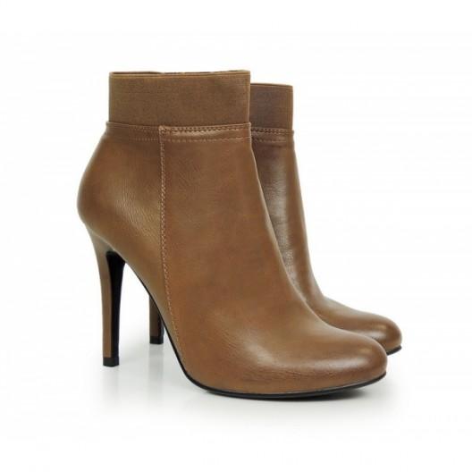 Elegantné dámske topánky na zimu v hnedej farbe
