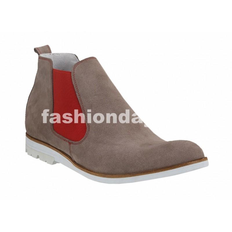 Pánske členkové topánky bežové - fashionday.eu 8857fb6515