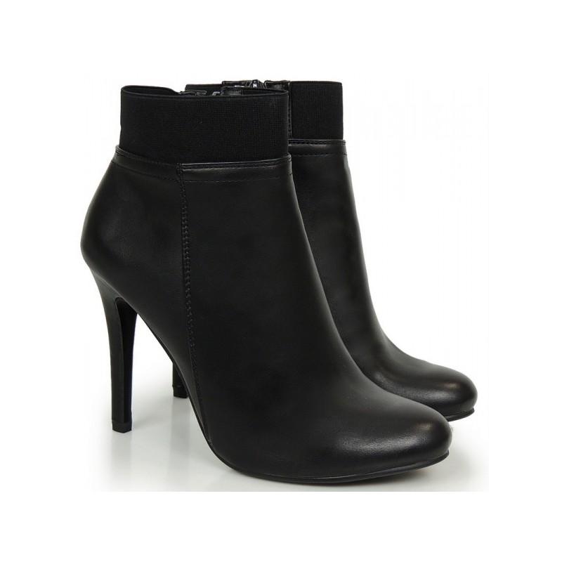 182f2b4674 Dámske kotníkové čižmy na zimu v čiernej farbe - fashionday.eu