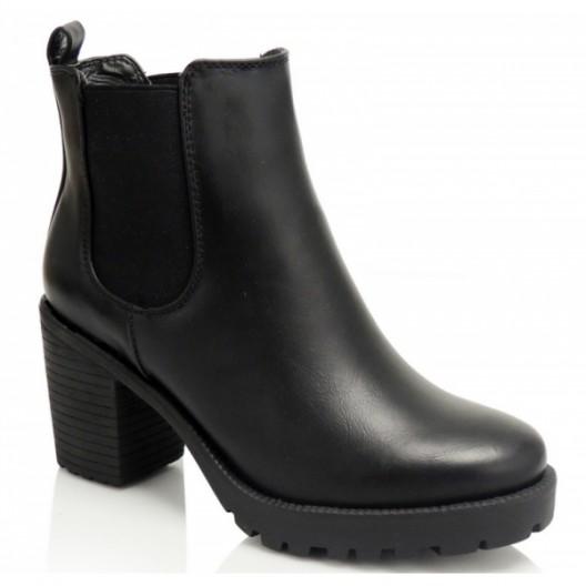 Čierne dámske čižmy na zimu