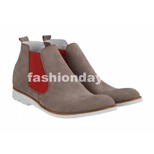 Pánske kožené topánky bežové PT117