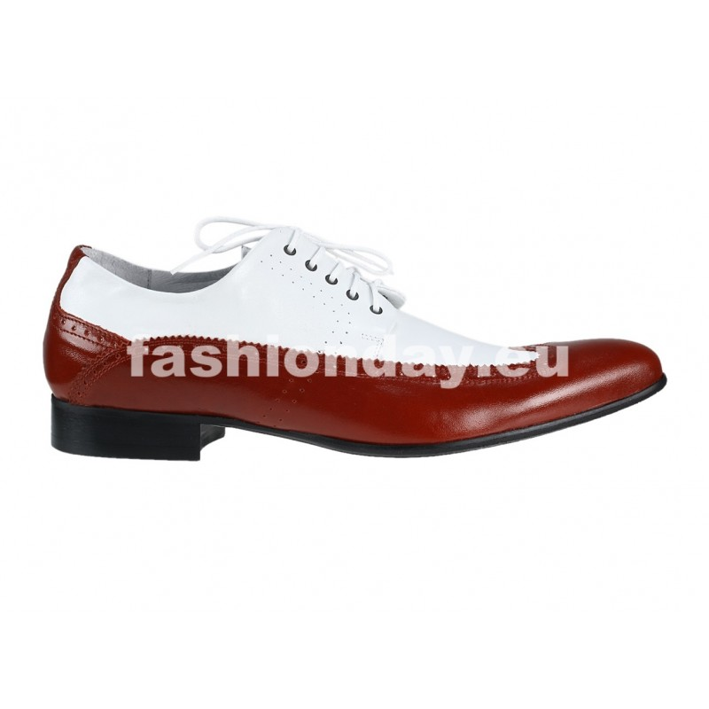 0a2a237a86 Pánske kožené extravagantné topánky biele PT062  Pánske kožené extravagantné  ...
