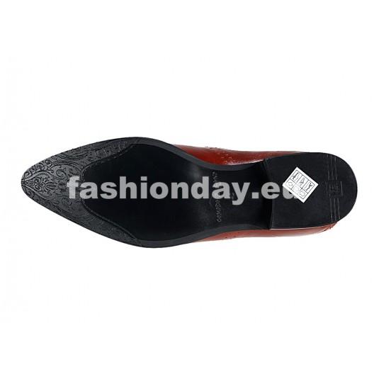Pánske kožené extravagantné topánky biele  PT062