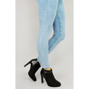 Čierne dámske topánky s prackou