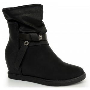 Dámska zateplená obuv čiernej farby