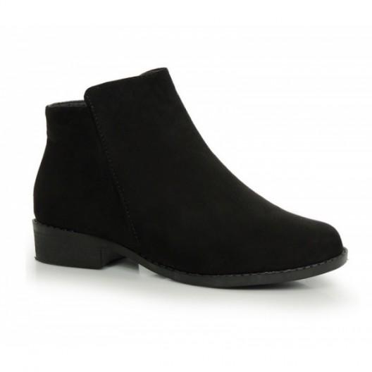 Zimné dámske členkové topánky čiernej farby