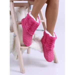 Teplé dámske papuče v ružovej farbe