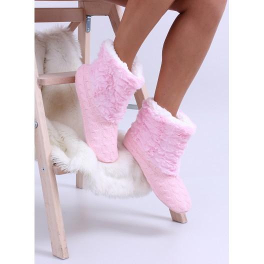 Svetlo ružové dámske kvalitné papuče