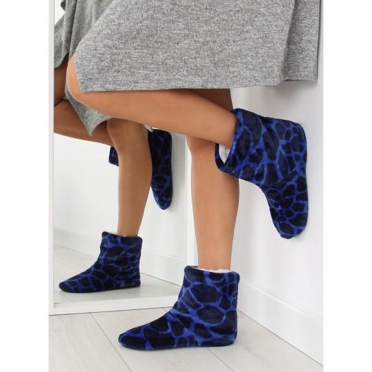 Pohodlné dámske papučky v tmavomodrej farbe