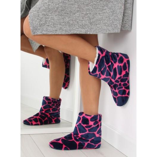 Ružové dámske pohodlné papuče