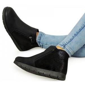 Čierne dámske topánky na zips