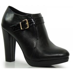 Čierna dámska obuv s prackou