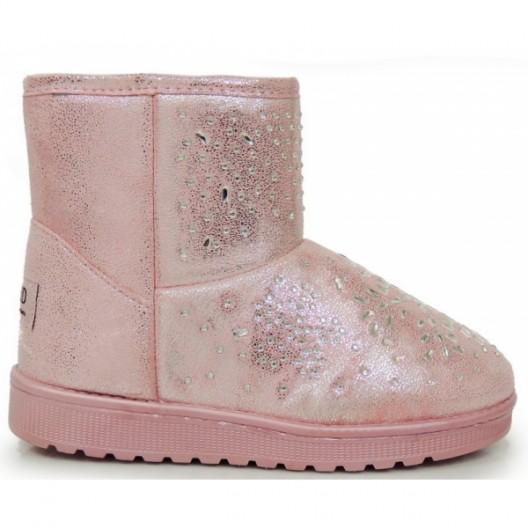 Zateplené dámske snehule v ružovej farbe