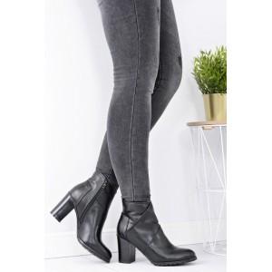 Zimné kotníkové topánky čierne