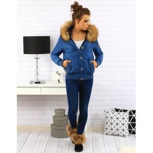 Dámska zimná bunda modrej farby
