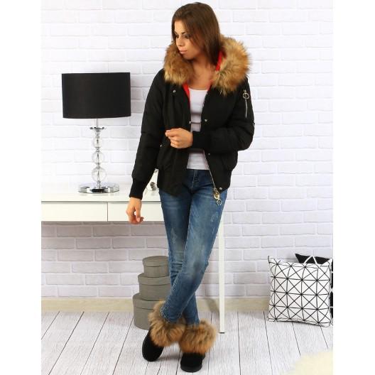 Dámska zimná bunda čiernej farby