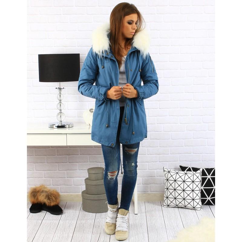 cf8c0863ff65 Módná dámska zimná bunda modrej farby - fashionday.eu