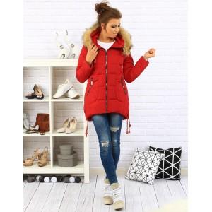Dámska červená bunda na zimu