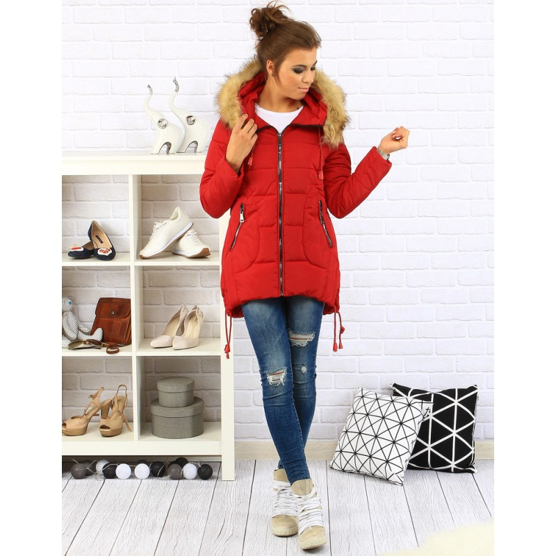 02acc0caf Predchádzajúci. Dámska červená bunda na zimu ...