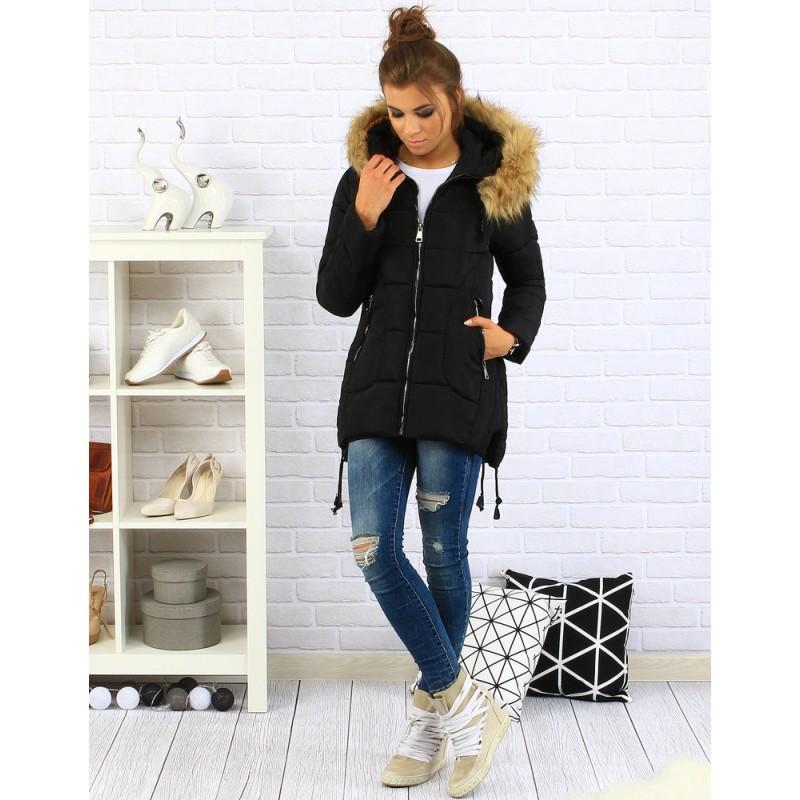 Predchádzajúci. Čierna dámska zimná bunda s kožušinou ... f37d03bcbe7