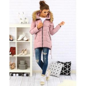 Dámska bunda na zimu ružovej farby
