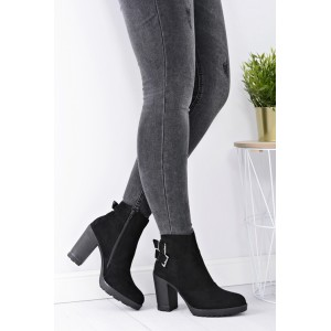 Dámska členková obuv čiernej farby