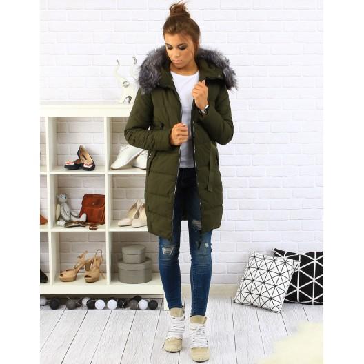 Dámska zimná bunda zelenej farby